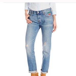 Levi's 501 CT Cherry Embroidered Jeans Size 31